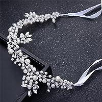 KHSKX-Europea E Americana Sposa Copricapo Crystal Pearl Fermacapelli Nastro  per I Capelli Coreano Matrimonio c638b5311a64