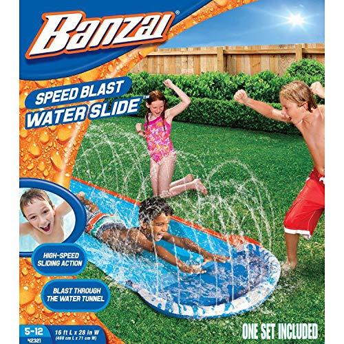 Banzai Wasserbahn Wasserrutsche 487 cm mit Sprinkler