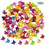 NATUCE Fermagli a Farfalla Clip per Capelli in Plastica, Mini Mollette Capelli Bambina, Assortiti Colorate Clip Artiglio per Capelli Accessori per Capelli per Donne e Ragazze