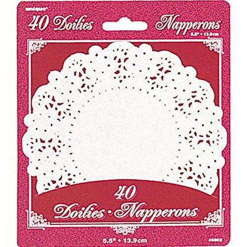 14cm bianco centrini di carta, confezione da 40