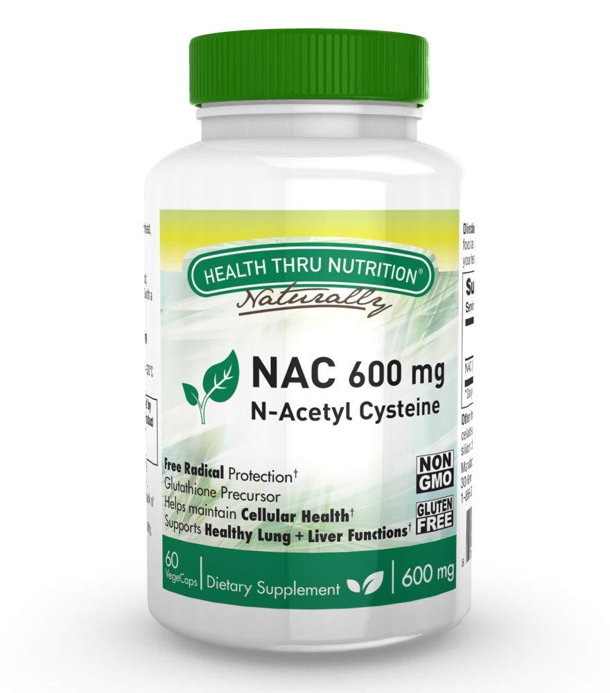 NAC 600mg N-Acetyl Cysteine 60 Vegecaps Non-GMO