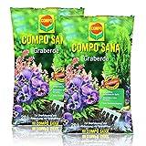 2x Compo Sana Graberde 20 Liter - Dekorative, tiefschwarze Optik - Blumenerde