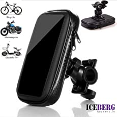 ICEBERG MAKERS Universal Waterproof Bike/Bicycle Mount Stand for Smartphone with 360 Degree Rotation(3.5-6.0inch)