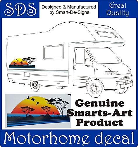 Preisvergleich Produktbild Smarts-Art Wohnmobil Vinyl Graphic Aufkleber Camper Van Wohnmobil-Wohnwagen 700 mm x 265 mm Birds