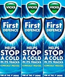 THREE PACKS of Vicks First Defence Nasal Spray 15ml