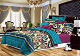 Homefab India Luxury Printed Double BedSheet with 2 Pillow Covers