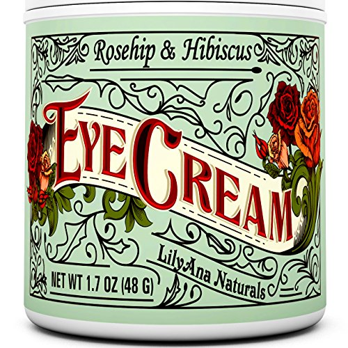 Eye Cream Moisturizer (1oz) 94% Natural Anti Aging Skin Care by LilyAna Naturals -