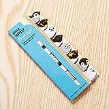 CAOLATOR Notizzettel Papier Haftnotizen Drucken Sticky Note Bunt Klein Klebezettel Lustig Klebend Textstreifen Haftmarker Page Marker Fahnen Tabs Tiere Muster (Pinguin und Eisb?r)