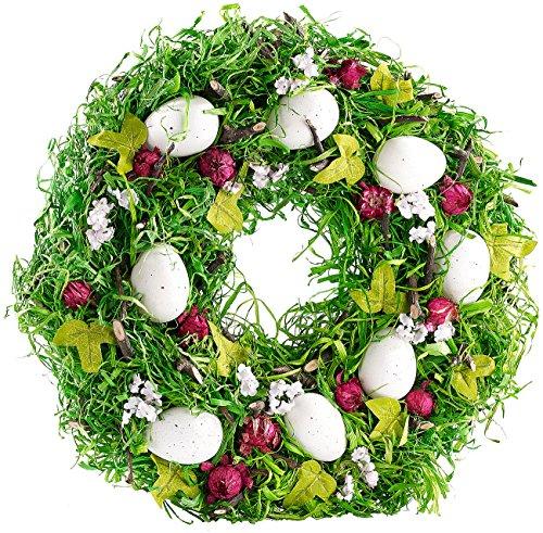Britesta Ostern: Osterkranz mit Ostereiern und roten Früchten, Ø 34 cm (Osterdekoration Kränze)