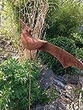 Scholtissek Vogelstecker H 65cm Vogel Pfau Eisen Rost Edelrost Gartenstecker