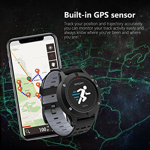 61C2o%2BrHXPL. SS500  - Smart watch,Sports Watch with Altimeter/ Barometer/Thermometer and Built-in GPS , Fitness Tracker for Running,Hiking and Climbing ,IP67 Waterproof Heart Rate Monitor for Men, Women and Adventurer.
