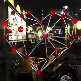 Centro commerciale Negozi di abbigliamento vetrina porta in vetro rivestimento storefront adesivo rimovibile arredato autoadesivo poster amore 52*56cm, rosso