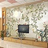 BIZHIGE 3D Tapete Für Wände 3D Wallpaper Wandbilder Non Woven Seide Für Wohnzimmer Einfache Highdefinition Blume, 400 × 280Cm