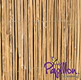 Best Fences - Bamboo Slat Natural Garden Fence Screening Roll Privacy Review