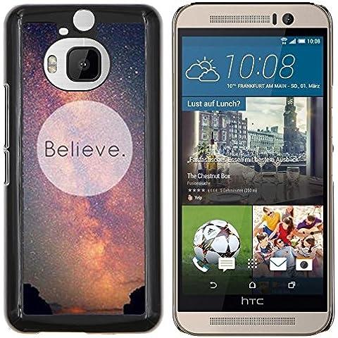 Copertura di plastica Shell Custodia protettiva || HTC One M9+ M9 Plus || Credete Universo Via Lattea Cosmo Inspiring @XPTECH