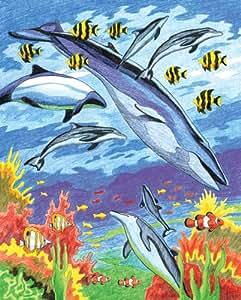 Royal & Langnickel CPN6 Dessin Crayon de couleur d'après les chiffres Animaux marins