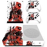 #7: Hytech Plus Deadpool Special Side Stance Edition Theme Sticker for Xbox One S Console & 2 Controllers