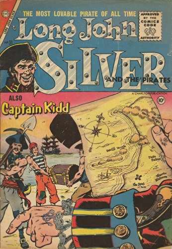 poster-comics-cover-charlton-long-john-silver-and-the-pirates-31-vintage-wall-art-print-a3-replica