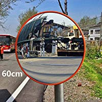 Quieting Wide Angle Security Curved Convex Road Mirror For Driveway Blind Spot Road 60cm Orange