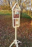 INSEKTENHOTEL MIT TRÄNKE SDV-HOST-OS und FUTTERPLATZ, Futterstelle, NEU Holz Nistkasten natur Marienkäfer Schmetterling Gartendeko als Ergänzung zum Meisen Nistkasten Meisenkasten oder zum Vogelhaus Vogelfutterhaus Futterstation für Vögel Insektenhäuschen – Insektenhotels, , Marienkäferhaus-Marienkäfer-Marienkäferkasten-Schmetterlingshaus-Schmetterlinge,Gartendeko - 3