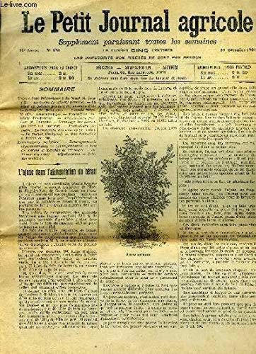 LE PETIT JOURNAL AGRICOLE N° 626 - L'ajonc dans l'alimentation du bétail (A. Boisjot). par COLLECTIF