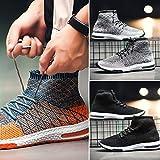 LMMET Scarpe Uomo Sneakers Scarpe da Uomo Classiche Sneakers Primavera-Estive Scarpe da Pallamano Scarpe da Cricket Nero Arancione Grigio 39/40/41/42/43/44