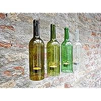 Upcycling- Hängelampe aus einer 0,75 l- Weinflasche (1 Stück)