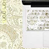 Gifts Flowers Food Best Deals - DHZ Craft Carving Flower Pattern Keyboard Cover Silicone Skin Protector for MacBook Air 13