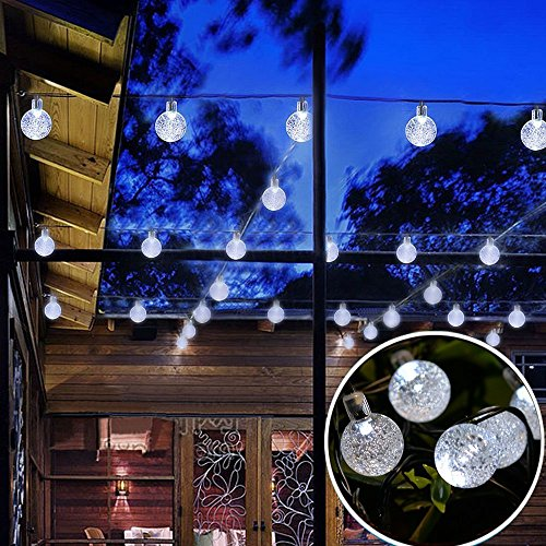 Usboo-Outdoor-Solar-String-Lights-for-Christmas-Party-Wedding-Yard-and-Holiday-Decorations-Solar-Powered-Waterproof-Globe-Garden-Lights-2-Modes-30-Bulbs