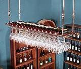 Weinregal, Weinregal Kreativität hängen Weinregal Continental Inverted Weinregal Haushalt Einfache Flaschenregal Länge 60/80/100/120 × Breite 30cm stabil (Farbe : #2, größe : 80 * 30cm)