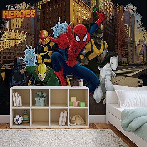 (Spiderman Marvel - Forwall - Fototapete - Tapete - Fotomural - Mural Wandbild - (267WM) - XXL - 312cm x 219cm - VLIES (EasyInstall) - 3 Pieces)
