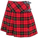 Tartanista - Mini kilt/jupe écossaise - sangles en cuir/broche - 41,9 cm (16.5'') - tartan Wallace