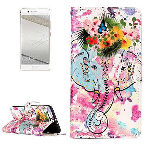 JDON Handys Case Hülle, Für Huawei P10 Plus, Glanz Öl geprägte Wolf Muster Horizontal Flip Ledertasche mit Halter & Kartensteckplätze & Brieftasche & Bilderrahmen für Huawei P10 Plus (SKU : Mlc3079f) (Polyurethan-glanz-Öl)
