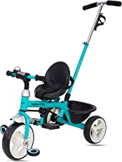 Baybee Blazer 2 in 1 Tricycle Learn to Ride Trike with Parent Control | Plug and Play Tricycle for Kids/Baby ( Blue )