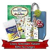 Geburtstagsgeschenk für Jungen ab 5 - Lesen, Schreiben, Rätseln mit der Bildermaus RITTER
