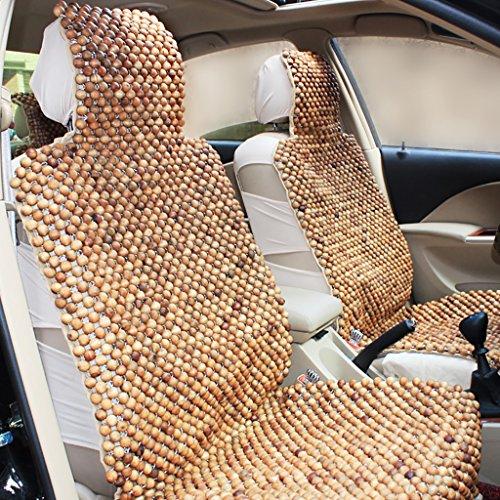 Sommer Auto Kissen Holz Perle Auto Sitzbezug Breathable Massage Cool Kissen 2 Sitze (3 Farben erhältlich) ( Farbe : C ) (Perlen Sitz-kissen)