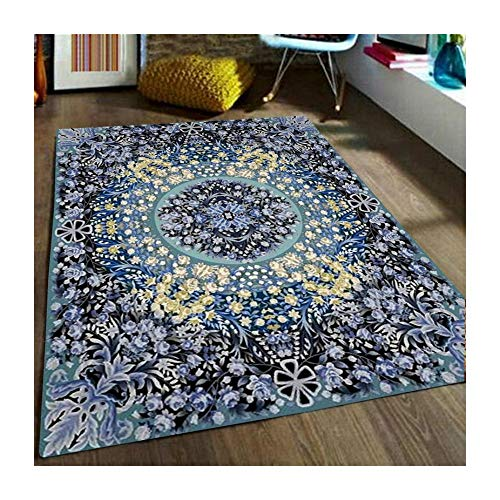 J.SCT-4 Teppiche Klassische Luxury Wearable Türkischer Luxus-Palast-Halt-Vintage Carpet 100{df6a7d6782a117f7e571dcadba89a10c2d3abc7844a46b4b463c908e210c940f} Polyester-Mat rutschfesten Wohnzimmer-Tisch Rechteckige Bedroom Tür Mat,10