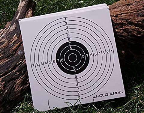 50 x ANGLO ARMS 140MM X 140MM CARD SHOOTING PAPER TARGETS AIRGUN RIFLE PRACTICE