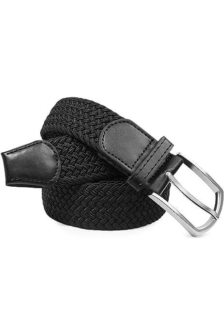 Braided Elastic Belt Woven Canvas Stretch Belts for Men