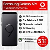 Samsung Galaxy S9 Plus Dual Sim (midnight black) mit 64 GB internem Speicher, Vodafone Smart XL inkl. 11GB Highspeed Volumen mit max 500 Mbits, inkl. Telefonie- und SMS Flat, EU-Roaming, 24 Monate min. Laufzeit, mtl.