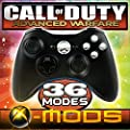 Xbox 360 Rapidfire Controller - Chrome Buttons - BEST MOD ON AMAZON!! Jumpshot - Dropshot - Jitter - all the best modes!! CoD - Battlefield - Mod - Custom