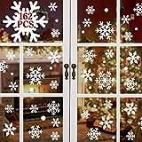 heekpek 162 Flocons de Neige Noël Autocollants Fenetre Amovibles Décoration Stickers Muraux pour Fenêtres Home Decor