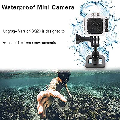 Mini Spy Hidden Camera SQ23 1080P HD Mini Wifi Camera Camcorder Night Vision CMOS 155 Degree Waterproof Hidden Camera Wireless Motion Detection for FPV Drone