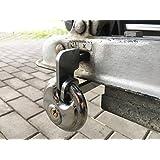 WP-S Aanhangerslot compact en universeel aanhangerslot diefstalbeveiliging van roestvrij staal voor trekhaak