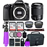 Canon EOS 80D 24.2MP CMOS Full HD Wi-Fi Enabled Digital SLR Camera With Tamron 18-200mm F/3.5-6.3 Vibration Reduction Lens + 2x 32GB Class 10 SD Memory Card + Accessory Bundle