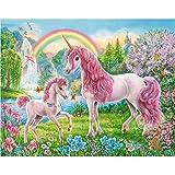 WACYDSD Puzzle 1000 Piezas Unicornio Rosa Juego De Rompecabezas Clásico Bricolaje Juguete De Madera Decoración para El Hogar