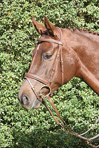 Hans Melzer Horse Equipment Trense Bad Harzburg, braun/messing, Extra Warmblut