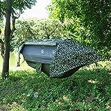 YHONG-Hammock Hängematte Outdoor mit Moskitonetz Ultra-Licht Atmungsaktiv Schnell Trocknende Fallschirm Nylon Camping Hängematte für Trekking Reise Strand Garten