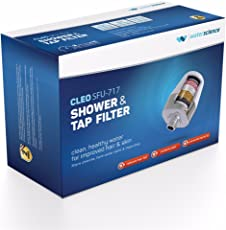 """WaterScience Cleo SFU 717 Shower & Tap Filter - For 1/2"""" Wall Showers, Hand-Held Showers & Taps With 24mm Aerators"""