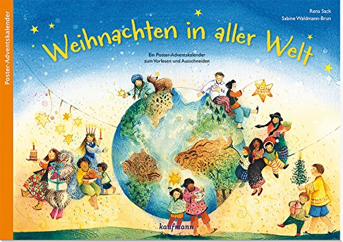 Preisvergleich Produktbild Weihnachten in aller Welt: Ein Poster-Adventskalender zum Vorlesen und Ausschneiden